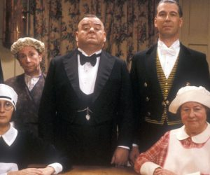 paul shane and bill pertwee head the cast in Jimmy Perry and david croft's final sitcom you rang m'lord