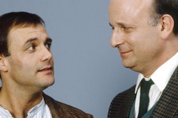 Jacko and his boss lional in the BBC sitcom Brush Strokes