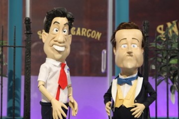 david cameron and ed miliband as portrayed in newzoids