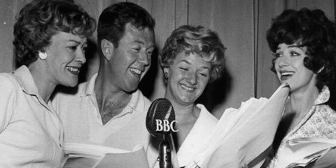 joan sims and fenela fielding are among the cast of bbc radio comedy something to shout about