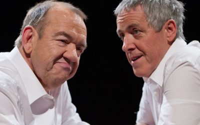 mel smith and griff rhys jones return to lok back at some of their most memorable sketches in the smith and jones sketchbook