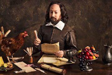 David mitchell plays wiliam shakespeare in the bbc sitcom upstart crow