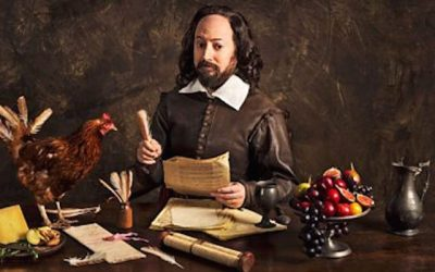 David mitchell plays wiliam shakespeare in the bbc sitcom upstart crow