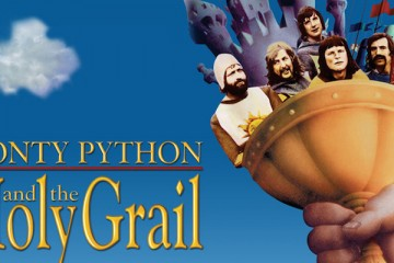 cinema promotional poster for monty python and the holy grail