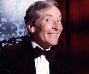 Kenneth Williams takes questions from a celebrity audience in an audience with kenneth williams