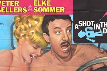section of a promo poster from the 1964 peter sellers film a shot in the dark