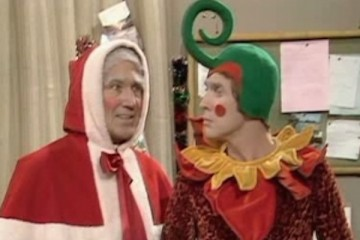 Frank spencer is chief of the pixies in santas grotto, BBC's Some Mothers Do Ave 'Em Christmas 1975