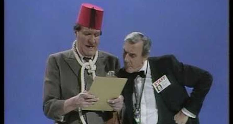 Eric Sykes stars with Tommy Cooper and others in the likeds of sykes one of three specials made for thames tv