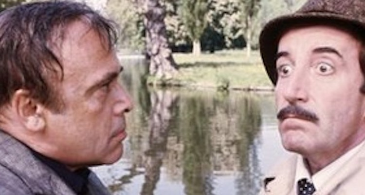 Peter Sellers and Herbert Lom are at loggerheads again in the pink panther strikes again