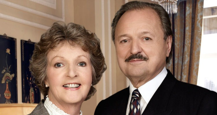 Richard and Adrey are celebtating their 25th wedding anniverdsary in the 2007 to the manor born christmas special