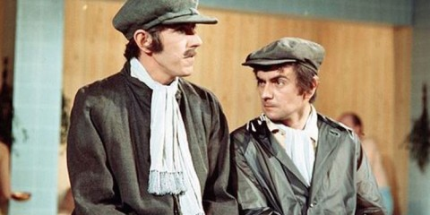 peter cook and dudley moore stars of the popular BBC comedy Not Only But Also