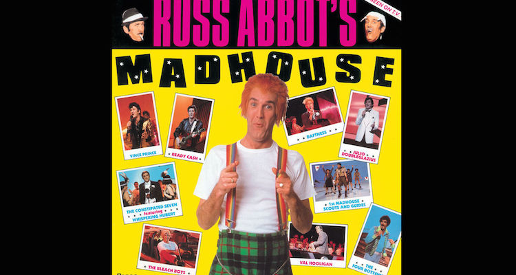 russ abbott and friends play a varirty of characters in the ITV hit series russs abbott's madhouse