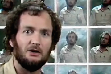 Kenny Everett stars in his popular ITV series The Kenny Everett Video show