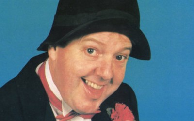 Irish comedian Jimmy Cricket famous for his letters from me mammy and those wellies