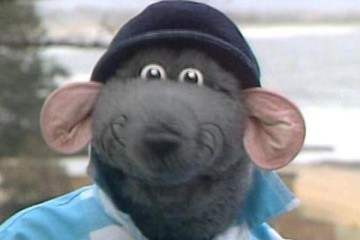 TV Am superstar Roland Rat in his first TV series Rat On the road