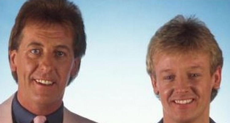 Les Dennis and his late comedy partner dustin gee starred in The Laughter Show