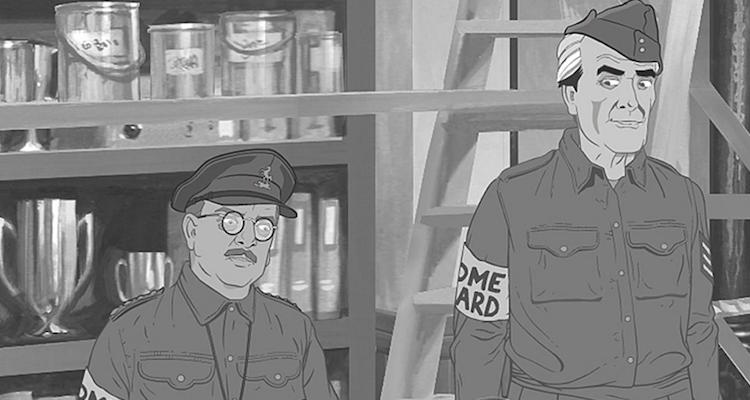 new animated version of dad's army a stripe for frazer