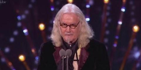 Billy Connolly accepts his 2016 NTA award at london's o2