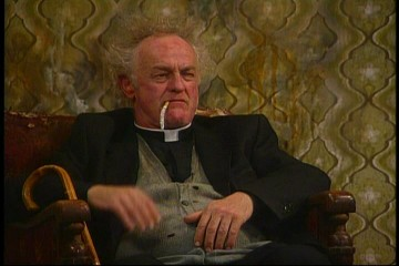 Frank Kelly stars as Father Jack Hackett in Father Ted