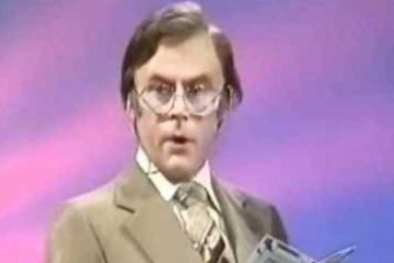 mike yarwood impersonates larry grayson