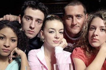 the cast of hit bbc three sitcom Two Pints of Lager and a Packet of Crisps