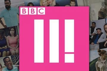 bbc three logo promoting it's comedy feeds season