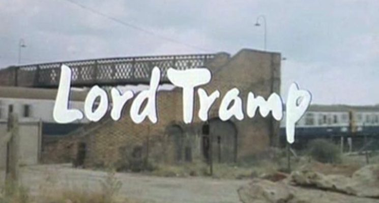title card to the itv sitcom lord tramp created by and starring hugh lloyd