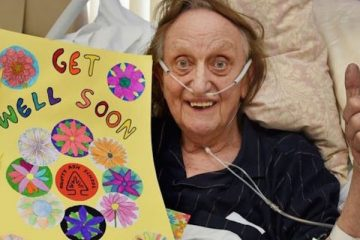 ken_dodd making progress from his hospital bed