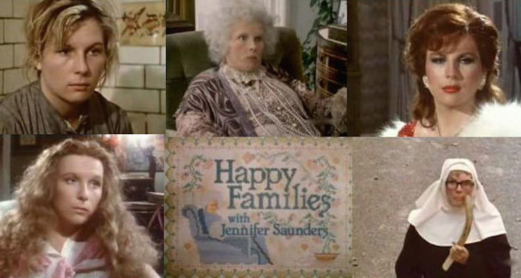 dawn french stars as a number of characters inBen Elton's Happy Familie