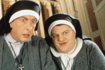 comedy heavyweights Eric Idle and Robbie Coltrane star in Nuns On The Run