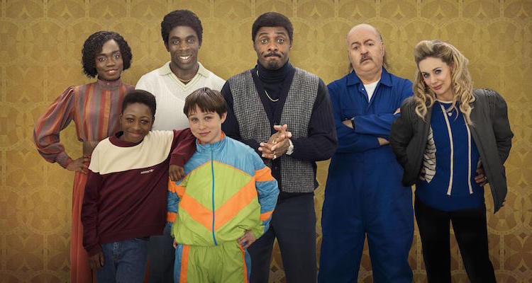 idris elba and Bill Bailey star in the sky one sitcom In The Long Run