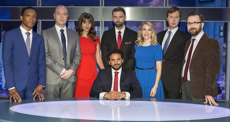 main cast/contributors for the bbc satire the mash report